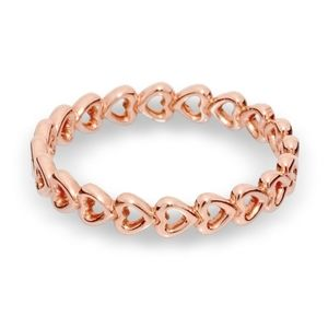 Pandora rose gold Band of Hearts ring